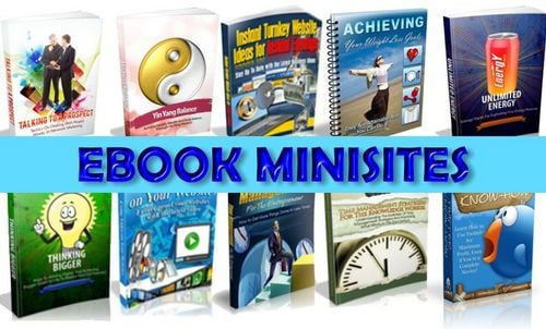 Product picture Ebook Minisites Pack 6 - online business with master resale